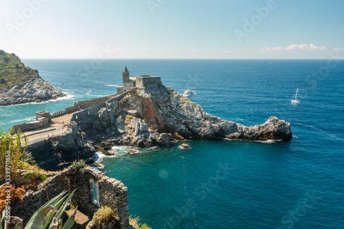 Obraz na plátně Le Cinque Terre, beautiful postcards. Doria Castle