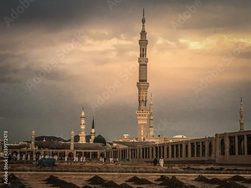 Obraz View Of Al Madinah Against Cloudy Sky - fototapety do salonu