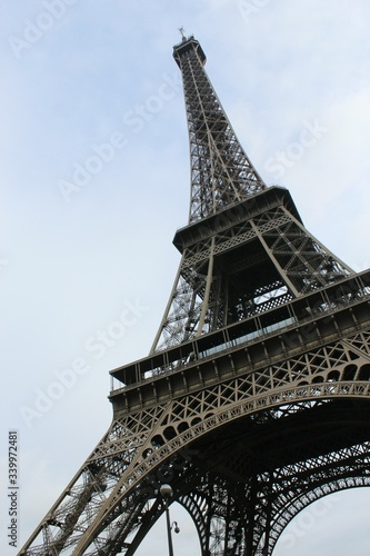 Low Angle View Of Eiffel Tower Against Sky #339972481