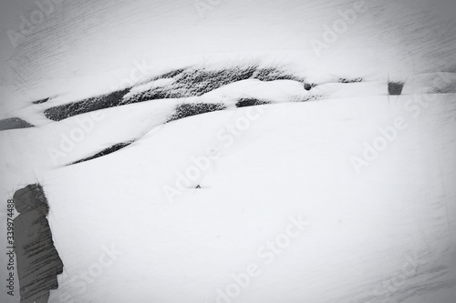 Fotografie, Obraz High Angle View Of Snowfield