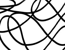 Abstract Black Fractal Swirl And Spiral Geometry Network Pattern Coloring Design- Illustration