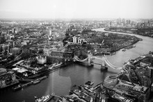 High Angle View Of Tower Bridge Over River Thames