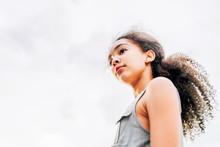 Profile Portrait Of Tween Girl...