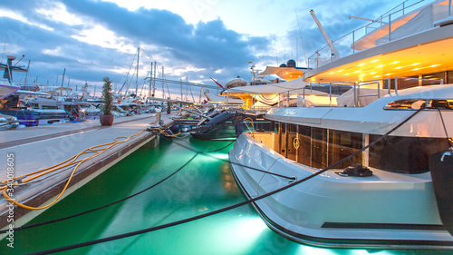 Sports marina on the White Island of Ibiza, restaurants and facilities for luxurious life on the white island of Ibiza.