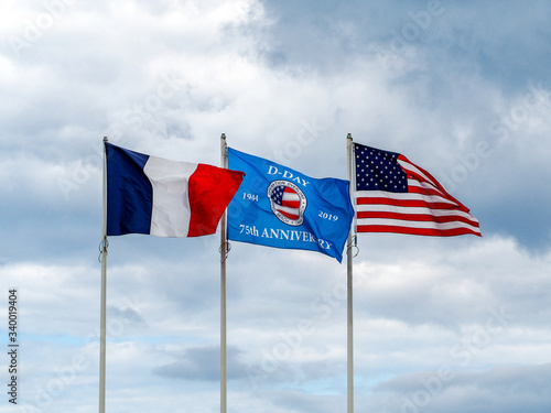 Honoring the brave soldiers of the 75th Anniversary of the Allied Invasion at the beaches of Normandy Fototapeta