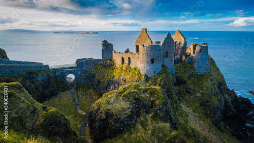Ruins of medieval Dunluce Castle