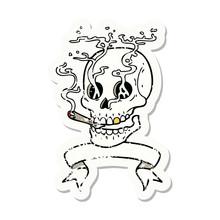 Grunge Sticker With Banner Of ...