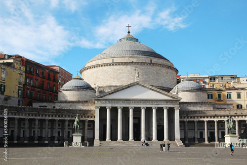 The church of San Francesco di Paola, Naples, Italy Canvas-taulu
