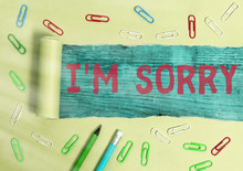 Word Writing Text I M Sorry. Business Photo Showcasing To Ask For Forgiveness To Someone You Unintensionaly Hurt