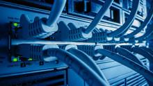 Macro Shot: Ethernet Cables Co...