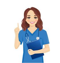 Female Woman Nurse Character P...