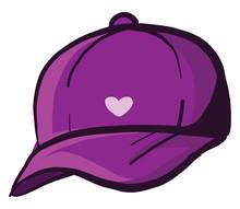 Purple Cap, Illustration, Vect...