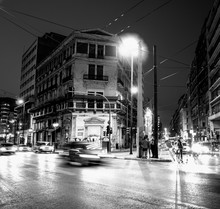 One Of The Street In Athens. Greece.