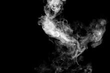 White Isolated Smoke On Black ...