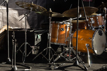 Drums And Cymbals On Stand