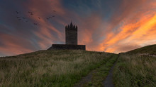 Doonagore Castle At Sunset, Co...