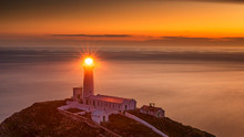 Lighthouse On Coastal Island W...