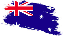 Australia Flag With Grunge Texture
