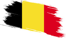 Belgium Flag With Grunge Texture