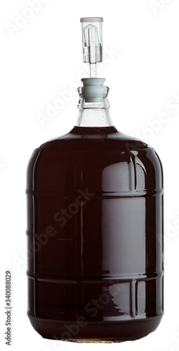 Fototapeta glass carboy of red wine