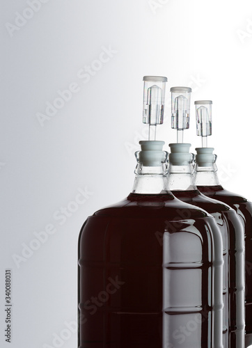 Valokuva glass carboy of red wine-01