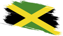 Jamaica Flag With Grunge Texture