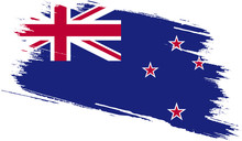 New Zealand Flag With Grunge Texture