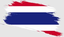 Thailand Flag With Grunge Texture