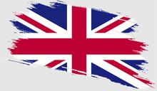 United Kingdom Flag With Grung...