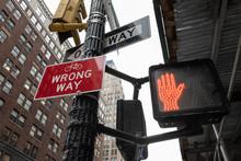 Signs On Street Corner That Sa...