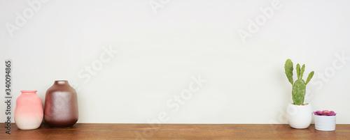 Home decor on a shelf Canvas Print