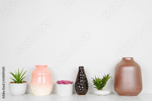 Stampa su Tela Home decor on a shelf