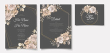 Wedding Invitation Card With Floral Designs