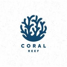 Coral Reef Crag Logo Design Vector
