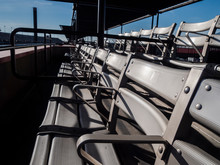 Empty Stadium Bleacher Seating
