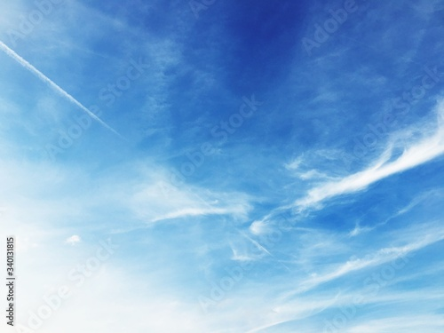Low Angle View Of Cloudy Sky - fototapety na wymiar