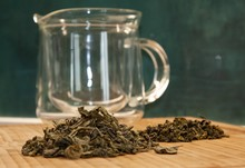 Large And Small Green Tea On T...