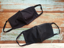 Two Black Color Cloth Mask Mad...
