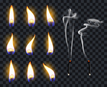 Realistic Candle Flames. Candl...