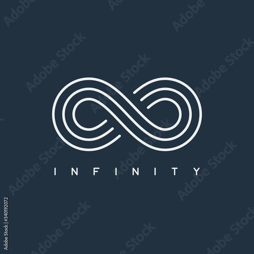 Fotografie, Obraz thin line infinity symbol