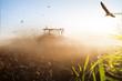 canvas print picture - Traktor Landwirtschaft Klima Dürre