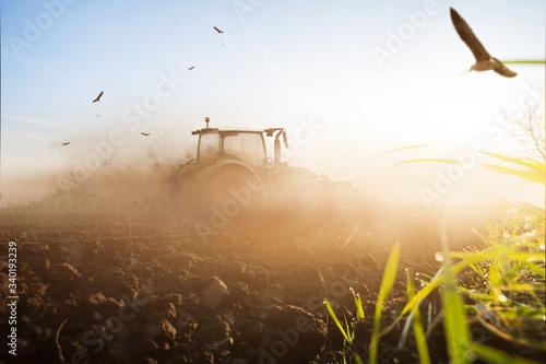 Obraz na plátně Traktor Landwirtschaft Klima Dürre