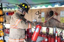 Asian Fireman Check Carbon Dio...