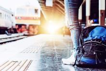 Solo Woman Backpacker Traveler...