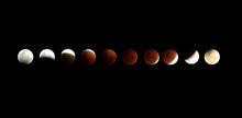 Multiple Image Of Lunar Eclipse