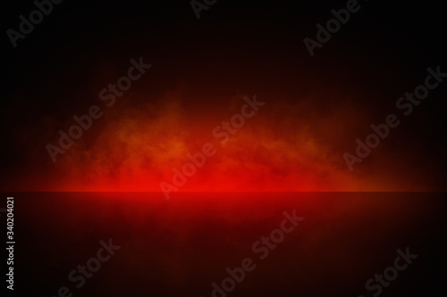 Fotografie, Obraz Abstract red smoke background for product photography, horizontal