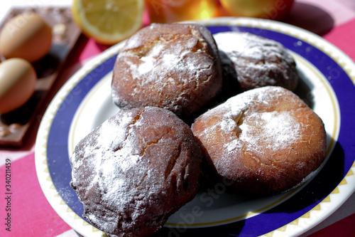 Véritable recette des Ponchkis, beignet polonais Tableau sur Toile