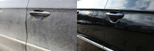 Car Door Before And After Wash...