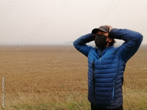 covid19, The farmer is suffering Canvas Print