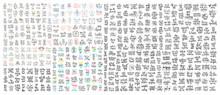Set Of 400 Hand Lettering Insc...